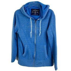 American Eagle Men's Hooded Jacket M Blue Hoodie